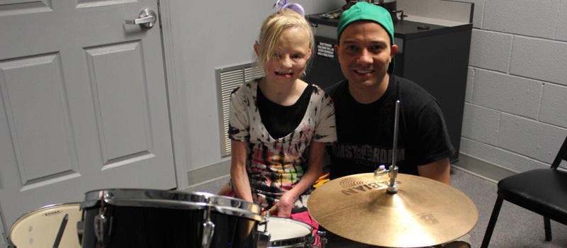 Amber Got a New Drum Kit