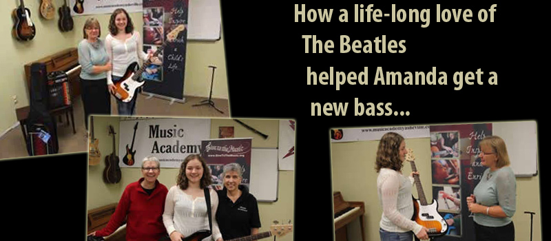 Learn how Amanda got her bass...