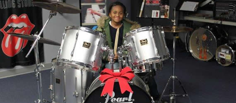 Ni'Zier got the drums he had always wanted...