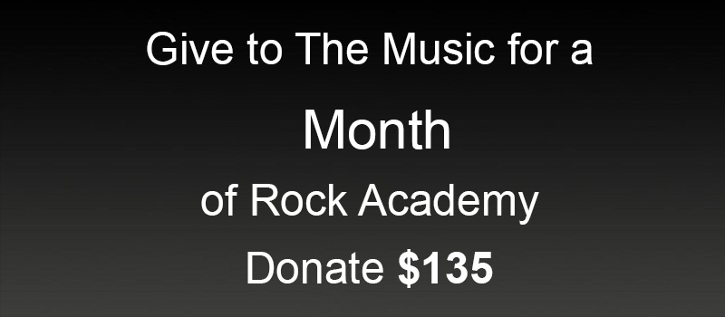 Donate 1 Month of Rock Academy